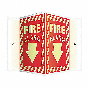 SIGN,FIRE ALARM,12X9