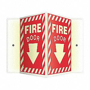 SIGN,FIRE DOOR,12X14