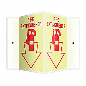 SIGN,FIRE EXTINGUISHER,12X14