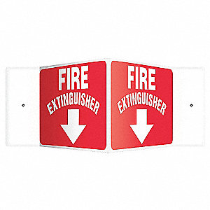 SIGN,FIRE EXTINGUISHER,8X18