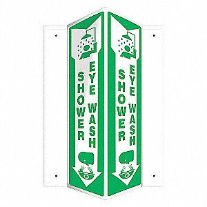 SIGN,SHOWER EYE WASH,18X7-1/2