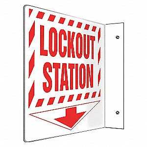 SIGN,LOCKOUT STATION,8X8
