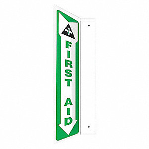 SIGN,FIRST AID,18X4