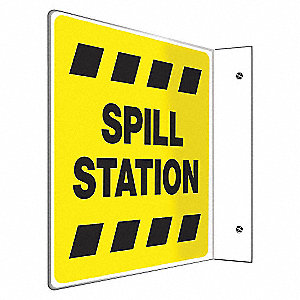 SIGN,SPILL STATION,8X8