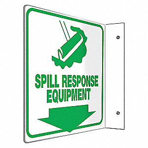 SIGN,SPILL RESPONSE EQUIPMENT,8X8