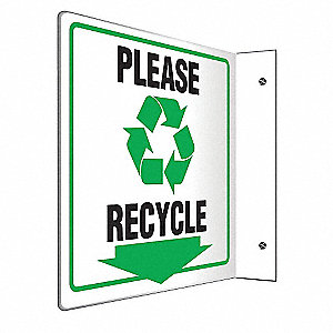SIGN,PLEASE RECYCLE,8X8