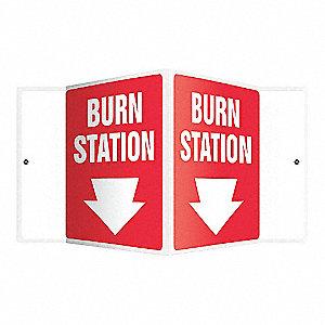 SIGN,BURN STATION,6X8-1/2