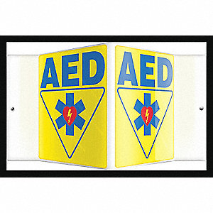SIGN,AED,6X8-1/2