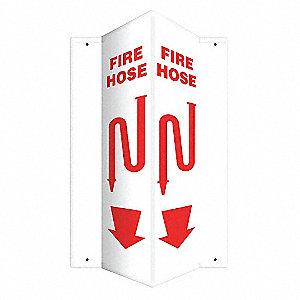 SIGN,FIRE HOSE,24X7-1/2