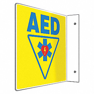 SIGN,AED,8X8