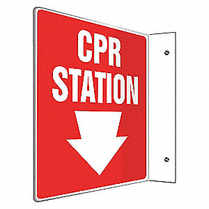 SIGN,CPR STATION,8X8