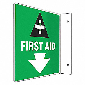 SIGN,FIRST AID,8X8