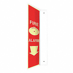 SIGN,FIRE ALARM,24X4