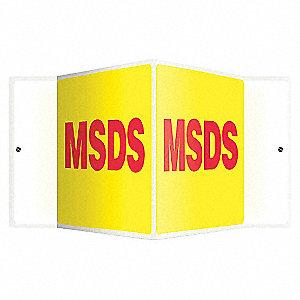 SIGN,MSDS,8X18