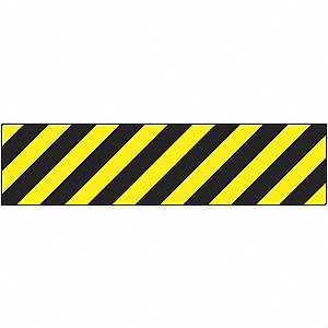 FLOOR SIGN,VINYL,STRIPES,6 X 24