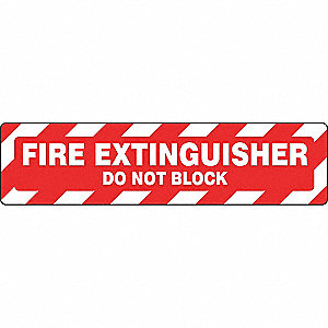 FLOOR SIGN,FIRE,6 X 24