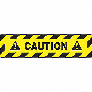 FLOOR SIGN,CAUTION,6 X 24