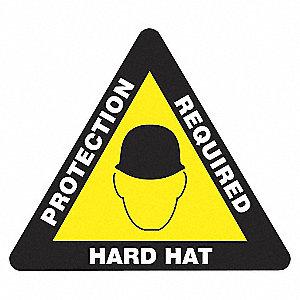 FLR SGN,17 TRI,HARD HAT PROT REQD