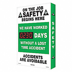 SCRBRD,ON THE JOB SAFETY,24 X 36