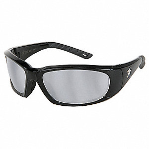ForceFlex® Scratch-Resistant Safety Glasses, Silver Mirror Lens Color