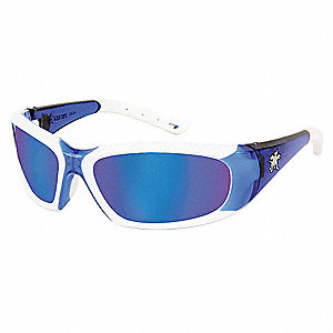 ForceFlex® Scratch-Resistant Safety Glasses, Blue Mirror Lens Color