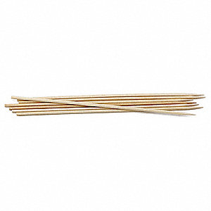 "6"" Bamboo Skewers, Brown; PK1000"