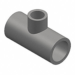 "PVC Reducing Tee, Socket x Socket x Socket, 2"" x 2"" x 1/2"" Pipe Size - Pipe Fitting"