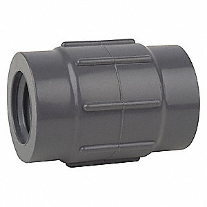 "PVC Reducing Coupling, FNPT x FNPT, 1-1/2"" x 1"" Pipe Size - Pipe Fitting"
