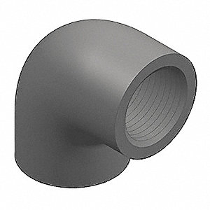 "PVC Elbow, 90°, FNPT x FNPT, 3/8"" Pipe Size - Pipe Fitting"