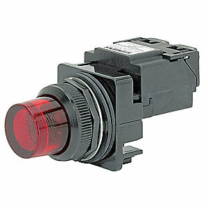Pilot Light,Transformer,Red,240VAC,30mm