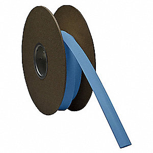 Shrink Tubing,0.25in ID,Blue,500ft
