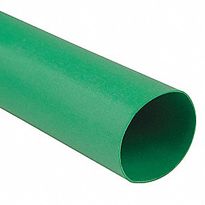 Shrink Tubing,0.75in ID,Green,4ft,PK25