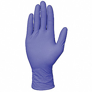 "9-1/2"" Powder Free Unlined Nitrile Disposable Gloves, Corn Blue, Size  L, 100PK"