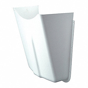 Pipe Covers, 1 piece(s), White Plastic