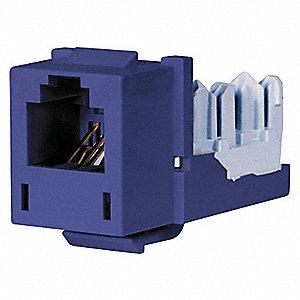 Modular Jack, Blue, Plastic, Series: Standard, Cable Type: Voice on wireless jack, cinderella jack, sound jack,