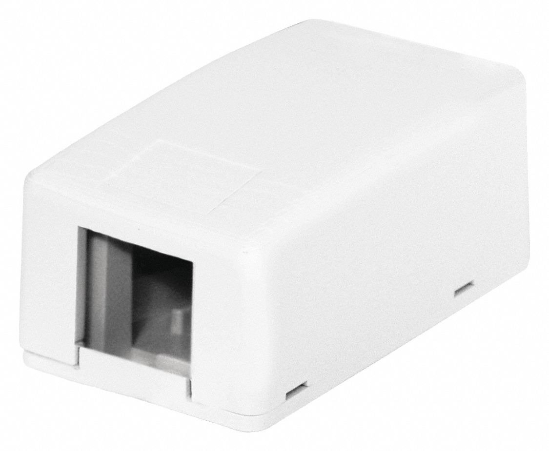 Surface Mount Box, 1 Port, White