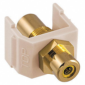 Inline Coupler,RCA,Duplex,Light Almond