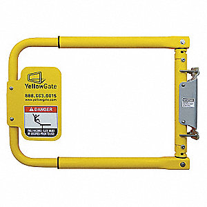 Safety Gate,16 to 36 In,Alum