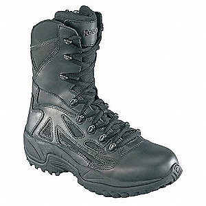 Tactical Boots,7'-1/2W,Black,Lace Up,PR