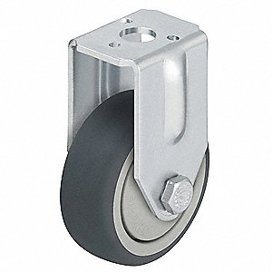"3"" Kingpin Rigid Caster with 165 lb. Load Rating and Ball Caster Wheel Bearings"