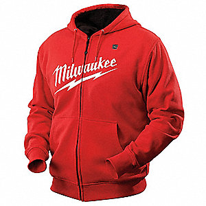 Heated Hoodie,2XL,Men's,Red