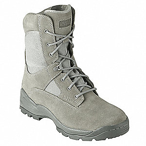 "8""H Men's ATAC Sage Boot, Plain Toe Type, Leather/Nylon Upper Material, Sage Green, Size 9-1/2"