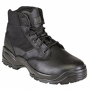 "5""H Men's Speed 2.0 Boot, Plain Toe Type, Leather/Nylon Upper Material, Black, Size 13"