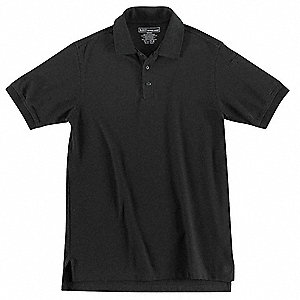 Utility Polo, Size 2XL, Black