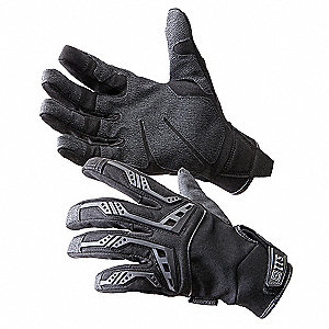 Tactical Gloves,L,Black,PR