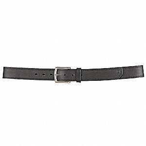 "Arc Belt, Full Grain Leather, Black, Width: 1-1/2"", Size: 4XL"