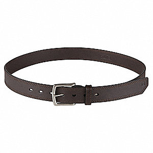 "Arc Belt, Full Grain Leather, Brown, Width: 1-1/2"", Size: 3XL"