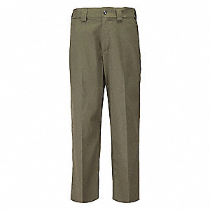 "PDU A Class Twill Pants. Size: 40"", Fits Waist Size: 40"", Inseam: Unhemmed, Sheriff Green"