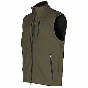 Covert Vest, XL, Moss, 46 to 48In, Poly