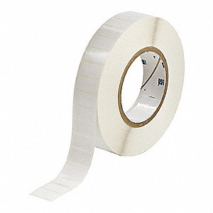 "Polyester Thermal Transfer Label, White, 1/2""W x 1"""